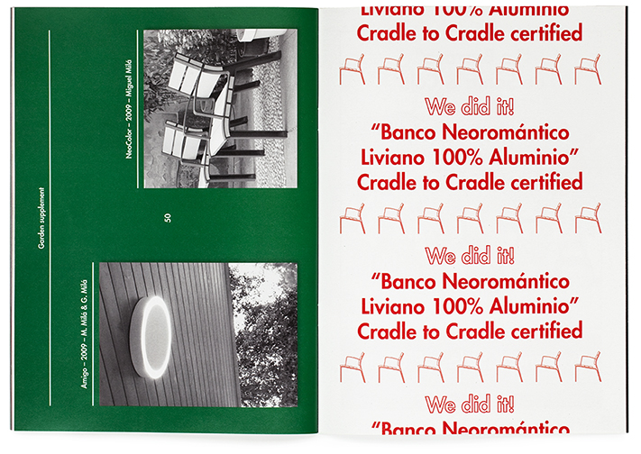 Banco Neoromntico de Santa &amp; Cole certificado Cradle to Cradle.